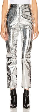 Patent Pant in Metallic Silver