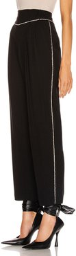 Crystal Trimmed Trouser in Black