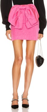 Bow Mini Skirt in Pink