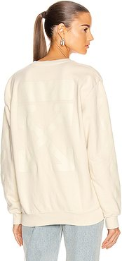 Diag Oversize Crewneck Sweater in Neutral