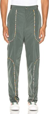 Piping Suit Trousers in Green