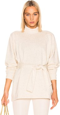 Amo Long Sleeve High Neck Top in Neutral