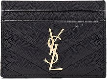 Monogramme Quilted Credit Card Case in Black