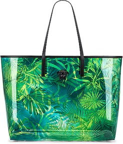Tribute Palm Tote in Green,Tropical