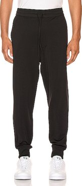 Cuffed Trackpants in Black