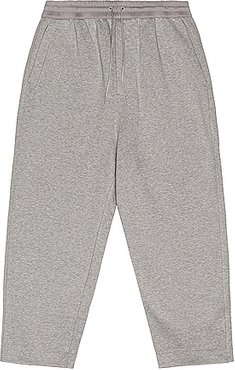Terry Cropped Pants in Gray