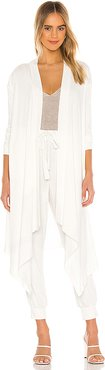 Drape Front Cozy Cardigan in White. - size M (also in L)