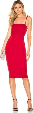 Kendall Midi Dress in Red. - size XXS (also in XS)