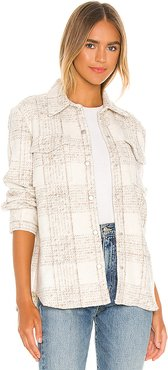 Work Hard Play Hard Jacket in Cream. - size S (also in XS)