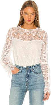 Smoke & Mirrors Blouse in White. - size XS (also in S)