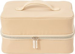 The Hanging Cosmetic Case in Beige.