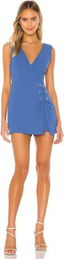 Lace Up Romper in Blue. - size 0 (also in 4)