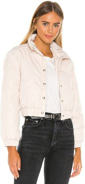 Quilted Jacket in White. - size XS (also in M,S)