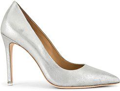Aria Pump in Metallic Silver. - size 10 (also in 9,9.5)