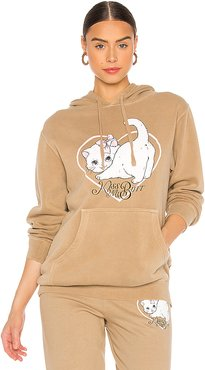 Kiss My Butt Hoodie in Tan. - size L (also in M,S)