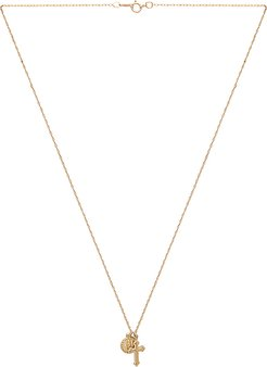 Hail Mary Necklace in Metallic Gold.