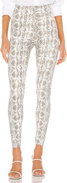 Faux Leather Animal Leggings in Grey. - size XS (also in S)