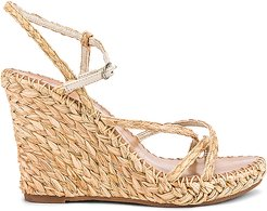 Nadine Wedge in Tan. - size 10 (also in 9.5)