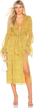 Ry Midi Dress in Yellow. - size XS (also in S)
