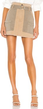 Paperbag Multi Tone Skirt in Tan. - size 25 (also in 30)