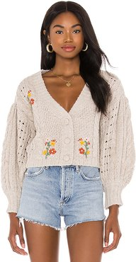 Amaryllis Cropped Cardigan in Brown. - size S (also in M)