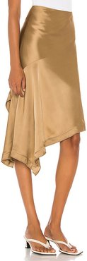 Scarf Slip Skirt in Brown. - size 6 (also in 0,2,4)