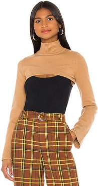 Calico Sweater in Tan. - size XXS (also in M)