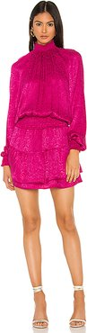 Smocked Turtleneck Dress in Pink. - size XS (also in S)