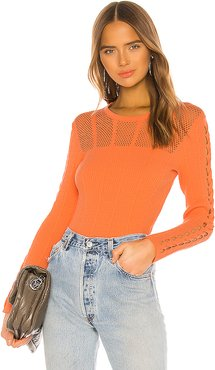 Solid Pullover in Orange. - size XS (also in S)
