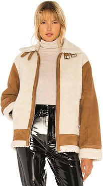 Colby Jacket in Brown,Cream. - size M (also in XS)
