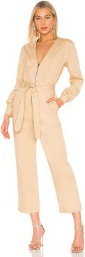 The Mera Jumpsuit in Beige. - size XXS (also in S)
