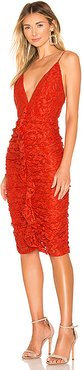 Sylvia Midi Dress in Red. - size S (also in XS)