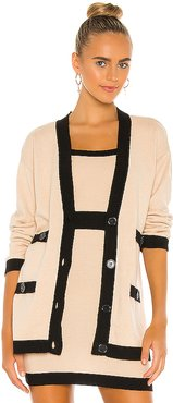 Jackie Cardigan in Tan,Black. - size XS (also in L,M,S)