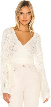 Tessa Wrap in Ivory. - size L (also in M)