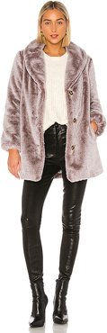 Brinley Faux Fur Coat in Brown. - size XS (also in S)