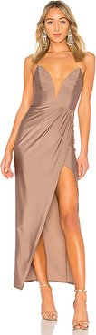 Jake Gown in Taupe. - size XXS (also in XS, L)
