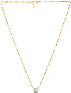 Dion Pendant Necklace in Metallic Gold.