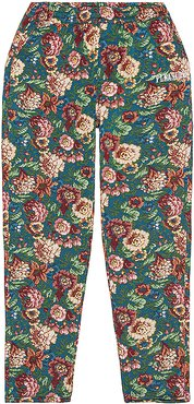Studio Floral Beach Pant in Green. - size S (also in M,L,XL)