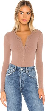 Peoria Bodysuit in Taupe. - size XS (also in XL)