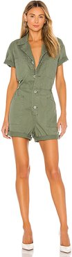 Parker Romper in Green. - size XS (also in S)