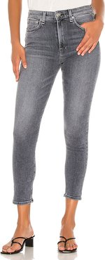 Nina High Rise Ankle Skinny in Charcoal. - size 27 (also in 28)