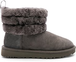 Fluff Mini Quilted Bootie in Charcoal. - size 10 (also in 6,7,8,9)