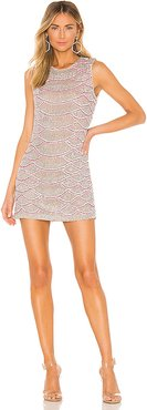 Monty Embellished Python Mini Dress in Pink. - size XS (also in XL)