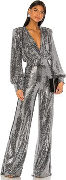 Galileo Jumpsuit in Metallic Silver. - size L (also in S)