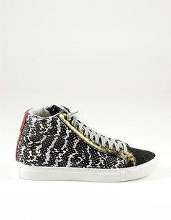 Designer Shoes, Python Print Mid-Top Women's Sneakers