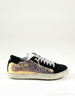 Designer Shoes, Black Ologram Women's Sneakers