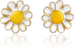 Designer Earrings, Garden Line - Daisy Enamel Earrings