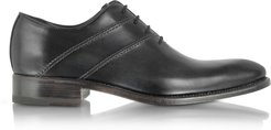 Designer Shoes, Black Italian Handcrafted Leather Oxford Dress Shoes