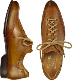 Designer Shoes, Men's Brown Handmade Italian Leather Lace-up Shoes