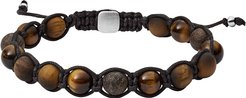 Designer Men's Bracelets, Tigers Eye and Bronzite Beaded Bracelet